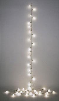 Love.  xlovescream:  Untitled (Petit Palais), Felix Gonzalez-Torres, 1992. Lightbulbs, electrical wire, porcelain socketsLength: 62 ft.Philadelphia Museum of Art