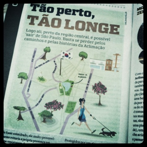 "The article's main illustration.The piece claims Aclimação is some sort of Little Korea in São Paulo, what with its Korean restaurants and… well, that's pretty much all you can find there (and, as far as I know, you cannot find thaaaaat many). I've always thought Bom Retiro was much more ""Korean"" than any other neighbourhood in the city, but maybe I have to update my views.Check out more posts from this collaboration HERE.Check out the other collaborators' blogs here.Check out The Korea Blog!"