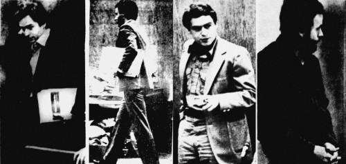 fotos de Bundy que estamparam os jornais.