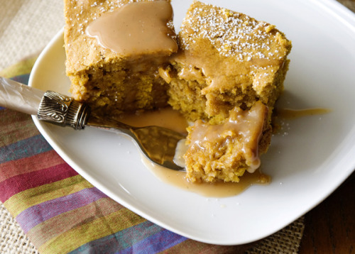 Salted Caramel Pumpkin Blondies