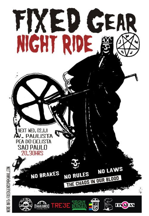Mudamos o horario do Night Ride para as 20:30hrs e saimos as 21:00 hrs.