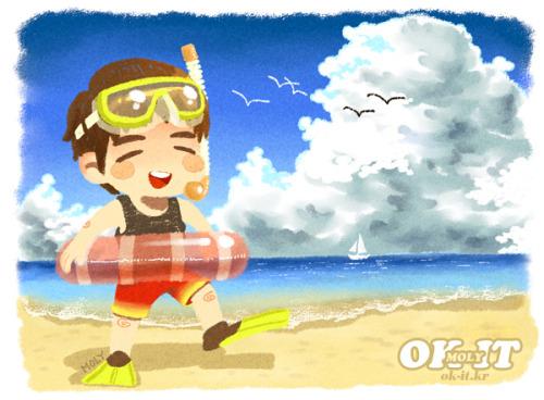 okitok:</p> <p>in Junsuya mini calender / Go on vacation! (SUMMER)<br />