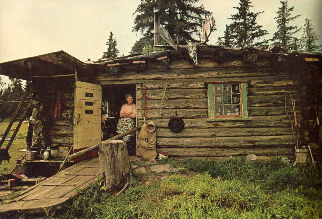 Log cabin in rural Nebraska, 1974.<br /><br /><br /><br /> Via Emma Brooke. Photographer unknown.