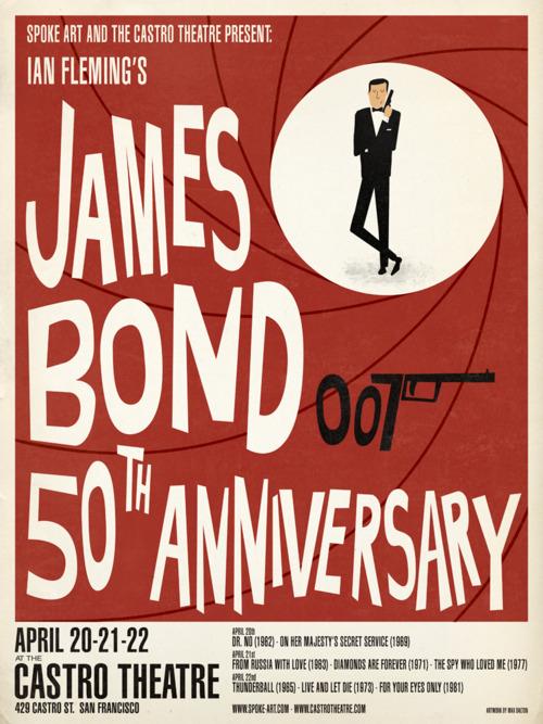 Limited Edition James Bond Posters by Max Dalton Spoke Art has a…