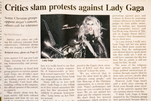 Critics slam protests against Lady Gaga.