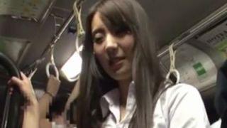 【長編】満員バスの美人女教師を犯してアナルもマ●コも二穴中出しレイプ!