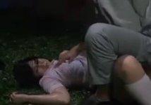 危険な夜の一人歩き…後を付けられて凌辱レイプされる巨乳JK!