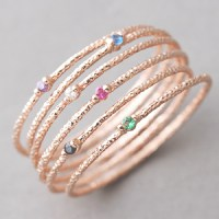 Rose Gold Stackable Rings Set Of 6 on Luulla