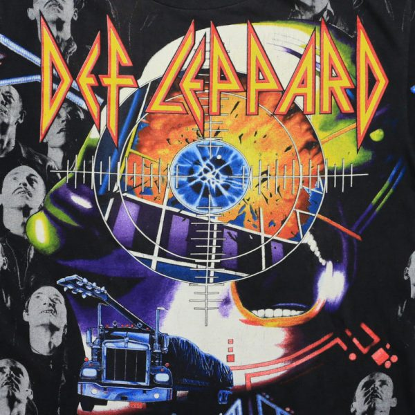 Def Leppard Album Collage Over Print Shirt 1992 Wyco