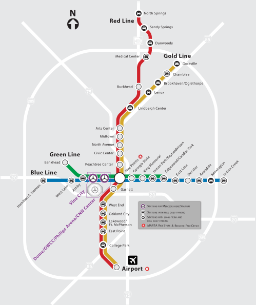 small resolution of mercedes benz stadium s location in the heart of downtown atlanta provides convenient public transportation options to get to and from the stadium