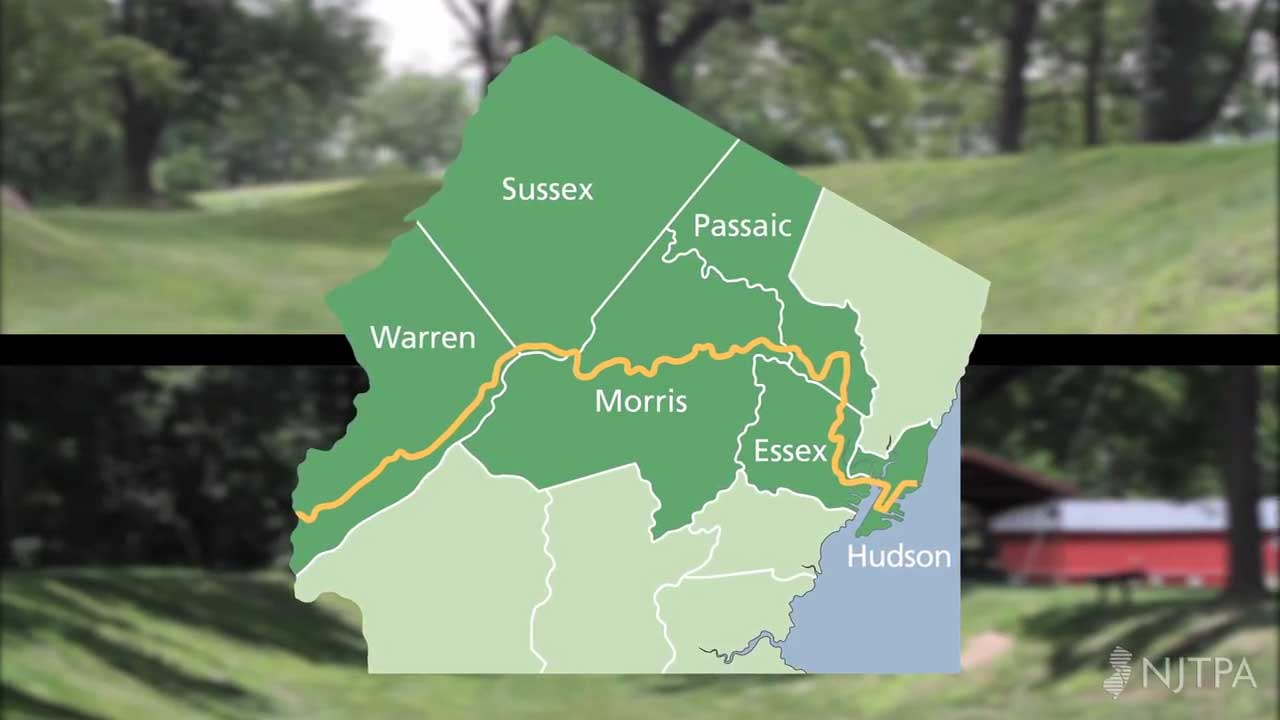 morris canal greenway map