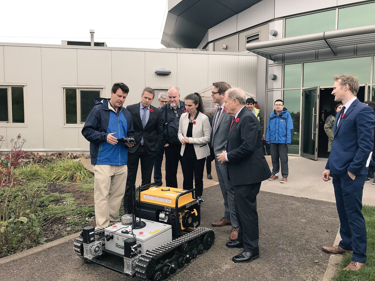 nserc chair design engineering building a grant for smart farming technology advances nc s precision ag demo of the new roamio jumbo rover to from left college vp external relations greg medulun industrial research colleges mike duncan