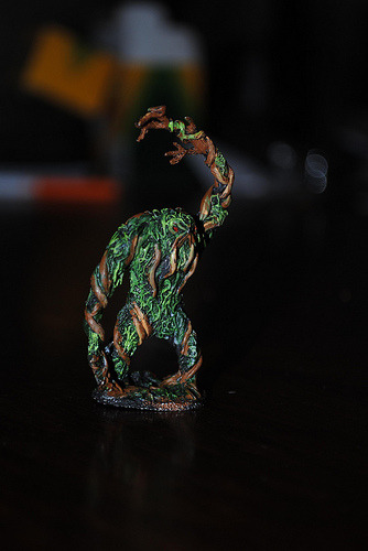 Swamp Shambler (by Hatchibombotar) My latest mini. I think it turned out rather well, though I would love to take  a little class in mini-painting. I think I'd enjoy it a little more if I felt a little more confident about my results. I took inspiration from this posting to the Reaper forums as well as images from Google Images of Marvel's Swamp Thing.