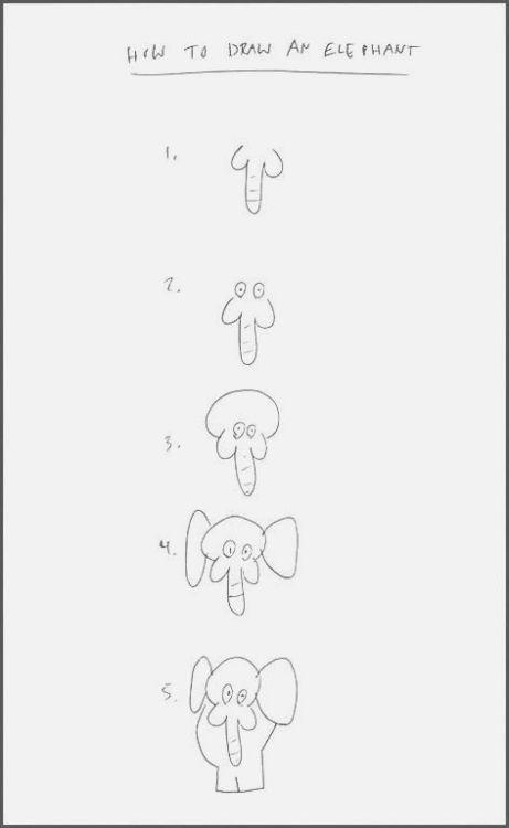 Easy To Draw Elephants