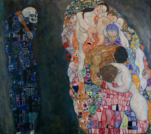 "domluizneto:  cafemably:  groovesalad:  anneyhall: Gustav Klimt: ""Life and Death,"" 1916."