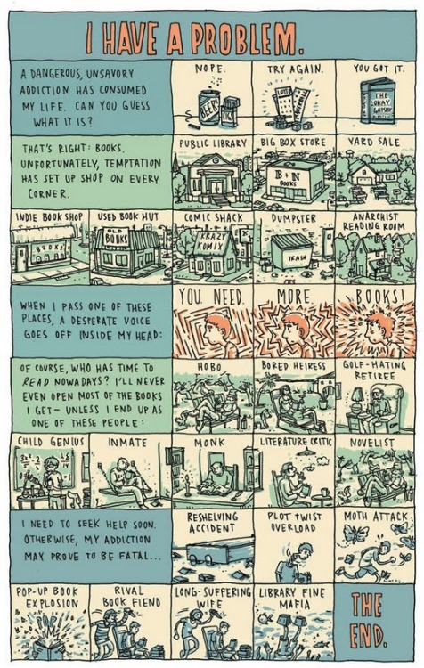 Confessions of a Book Fiend by Grant Snider