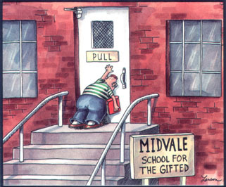 school for the gifted Gary Larson comic cartoon the Far Side