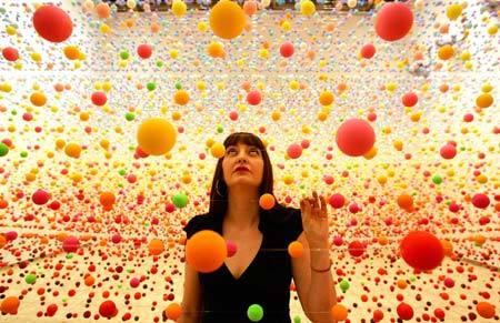 Nike Savvas' installation piece titled Atomix.