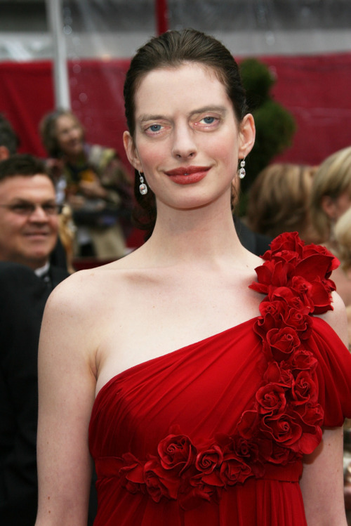 Anne Hathaway with Steve Buscemeyes.
