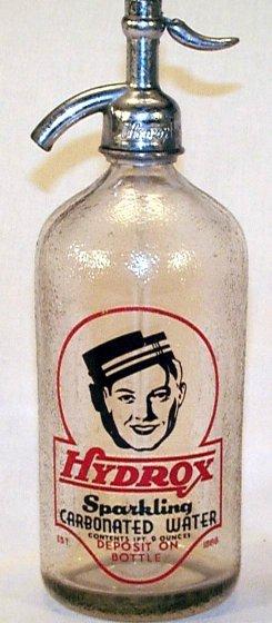 Hydrox Seltzer Water Bottle, ca. 1920s.