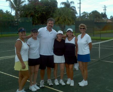 GREAT time coaching one of my two ladies teams! Each team has 16 ladies.  Has been 10+ years since I've worked with a ladies league team! My awesome wife, Melody, helped me with the team, as did my full time tennis academy student from Australia, David. This group of ladies LOVED their workout! They appreciated the high level of coaching skills we brought to the courts…and the passion, fun, and excitement as we strive to make sure everyone improves!