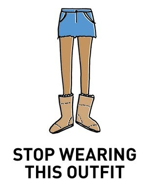 uggs, fashion, outfit, no