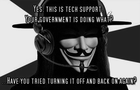 V's Governmental Tech Support.  Credit goes who the genius who thought it up.