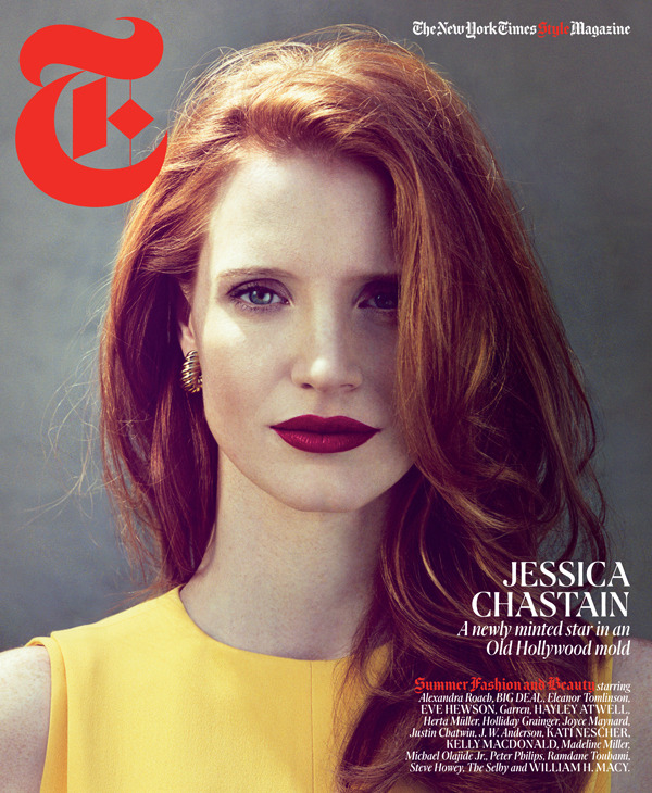 The lady gracing the cover of our Women's Summer Fashion and Beauty issue? The elegant Jessica Chastain.