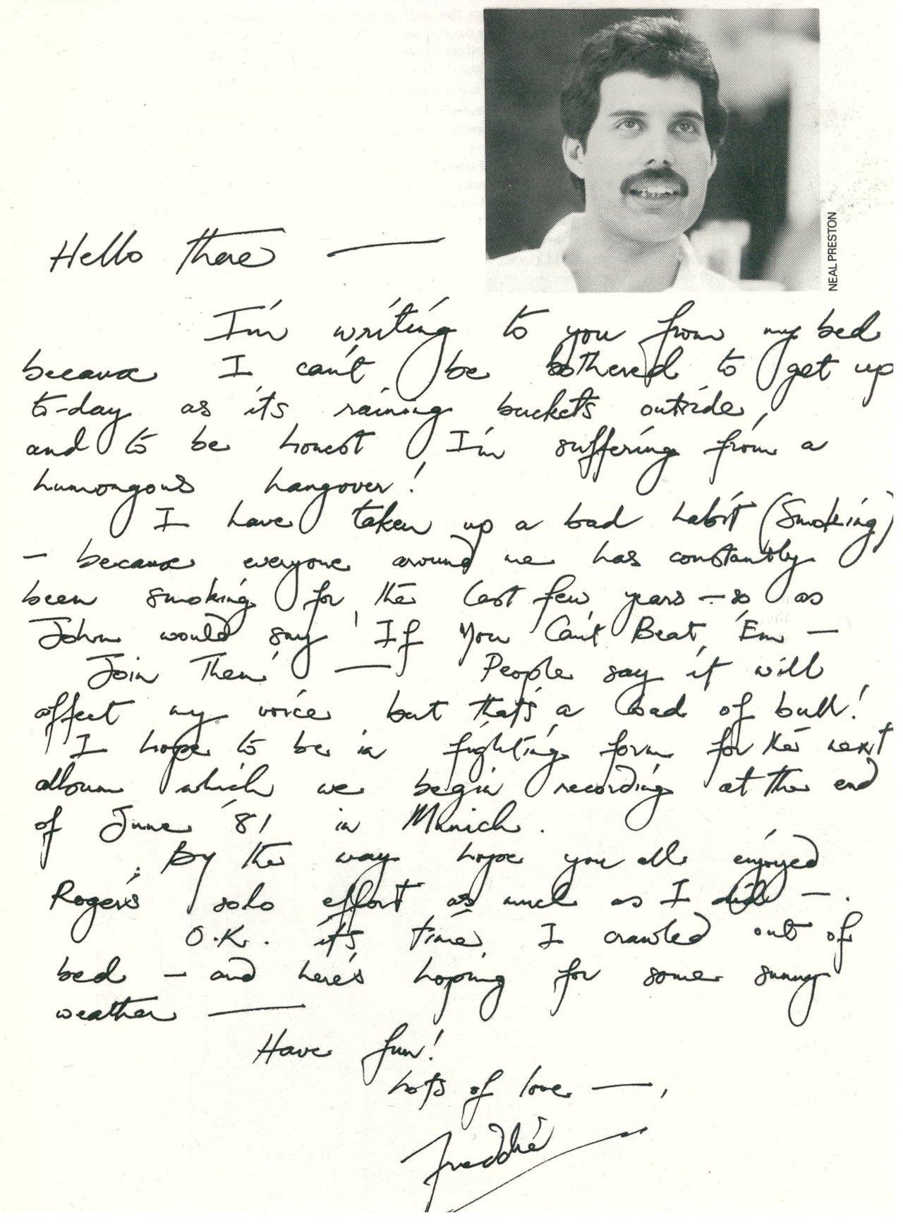 Queen Handwriting