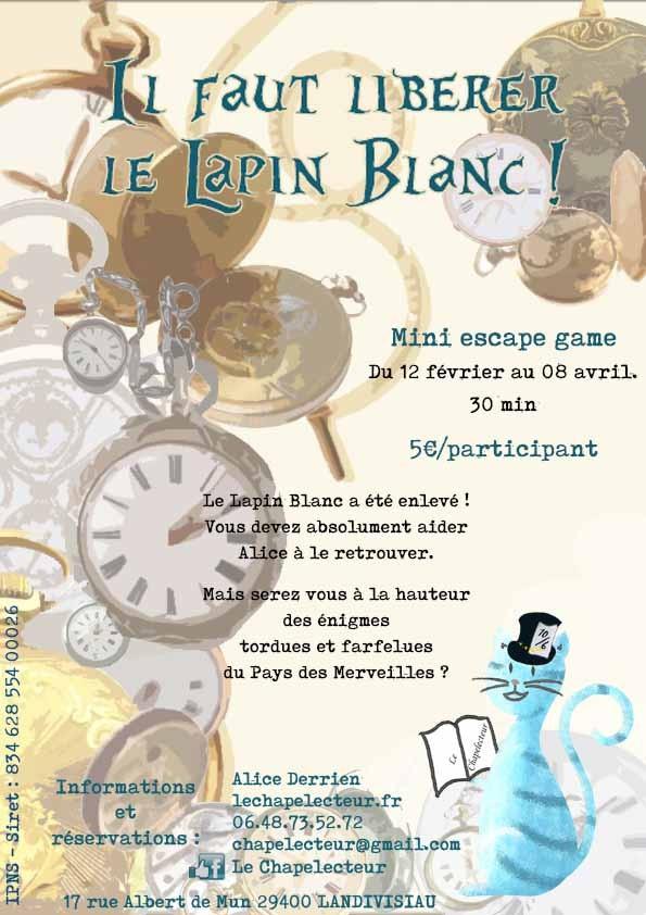 Escape Game Alice Au Pays Des Merveilles : escape, alice, merveilles, Libérer, Lapin, Blanc, Escape, Récréatiloups, Finistère