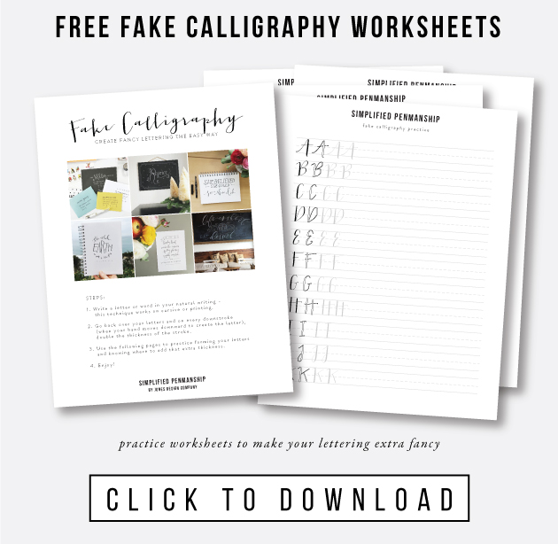 How To Create Fake Calligraphy Tutorial Practice