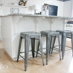 Industrial Kitchen Stools Granite Tile Countertops New Bar Jones Design Co Metal Style In