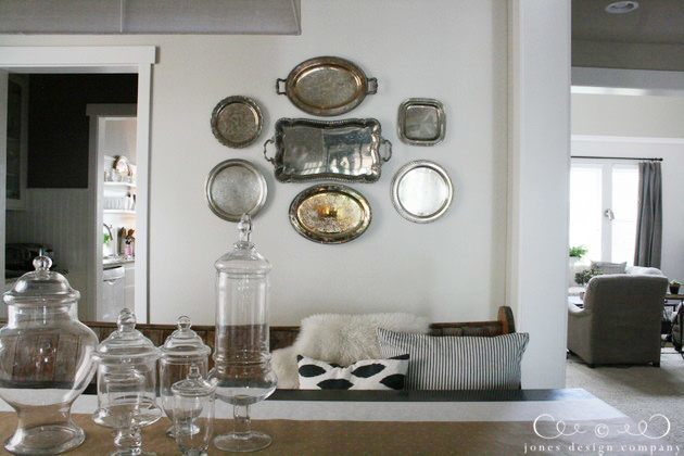 how to hang platters on the wall
