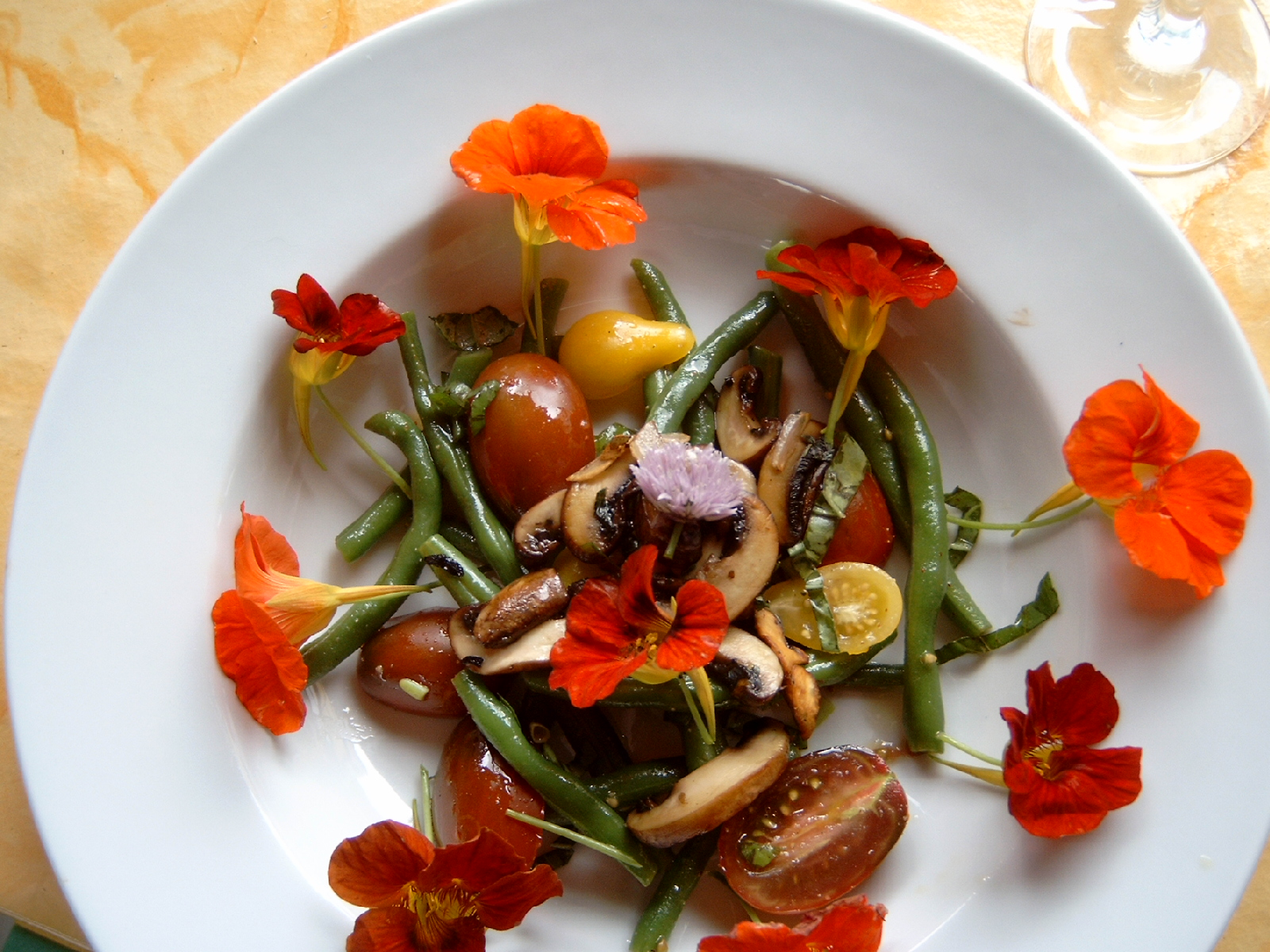 Bohnen - Tomatensalat
