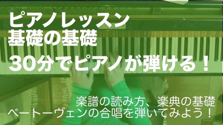 初心者でも30分で両手で弾ける!ピアノレッスン基礎の基礎「ベートーヴェン第九合唱」【ピアノ/入門/基礎/ソルフェージュ】