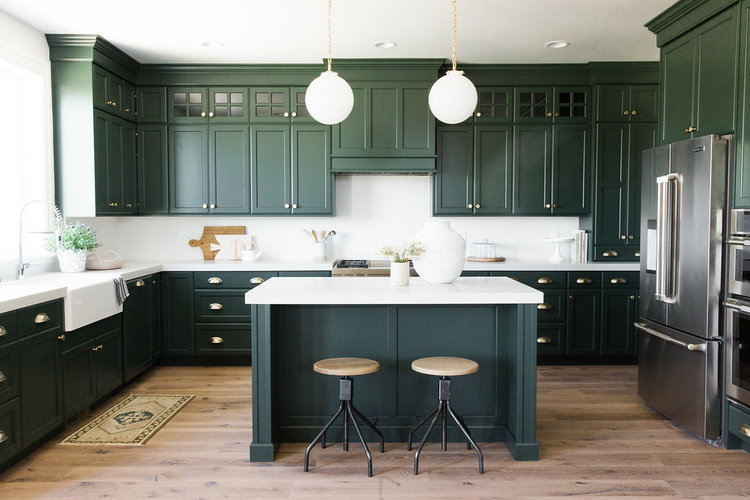 green kitchen cabinets design and layout ideas the best trends for 2018 29 studio large dark
