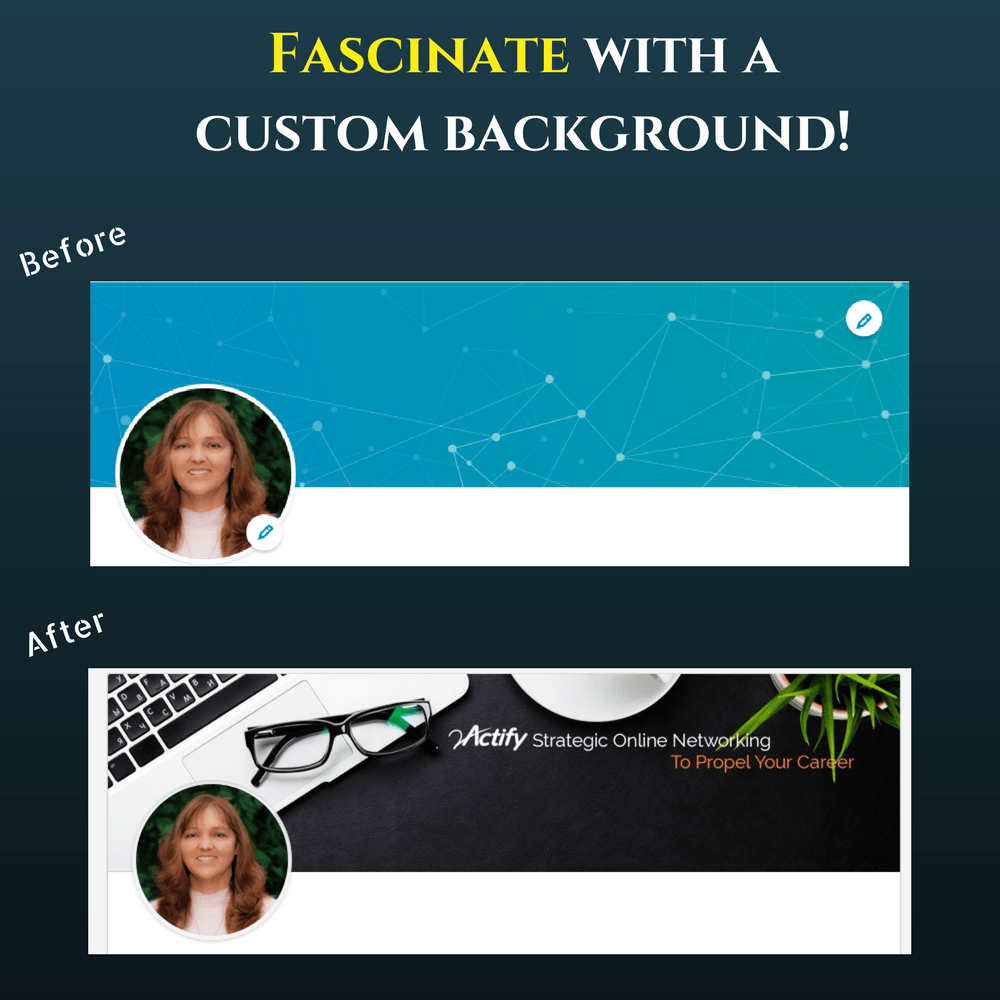 2Actify workshop - custom linkedin background