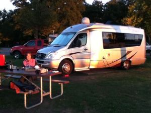 Our campsite at Cedar Point State Park