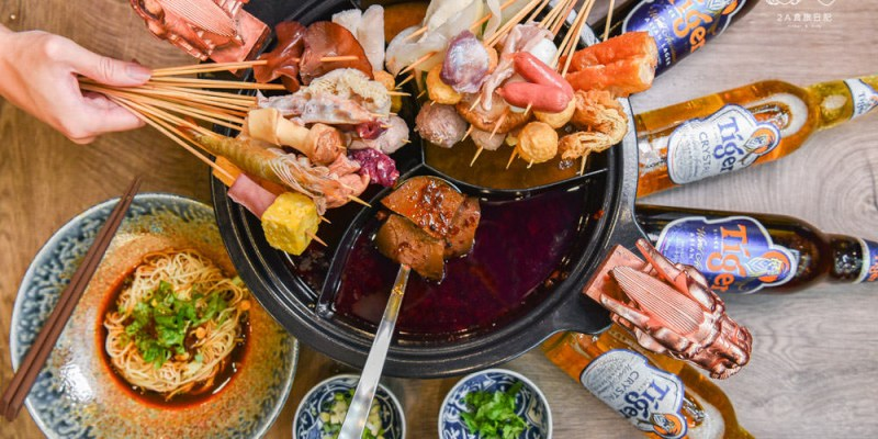 串霸。麻辣串串:台中西屯區美食 -黎明路上一串只要$10元銅板價的露天四川麻辣串,香辣十足超過癮!