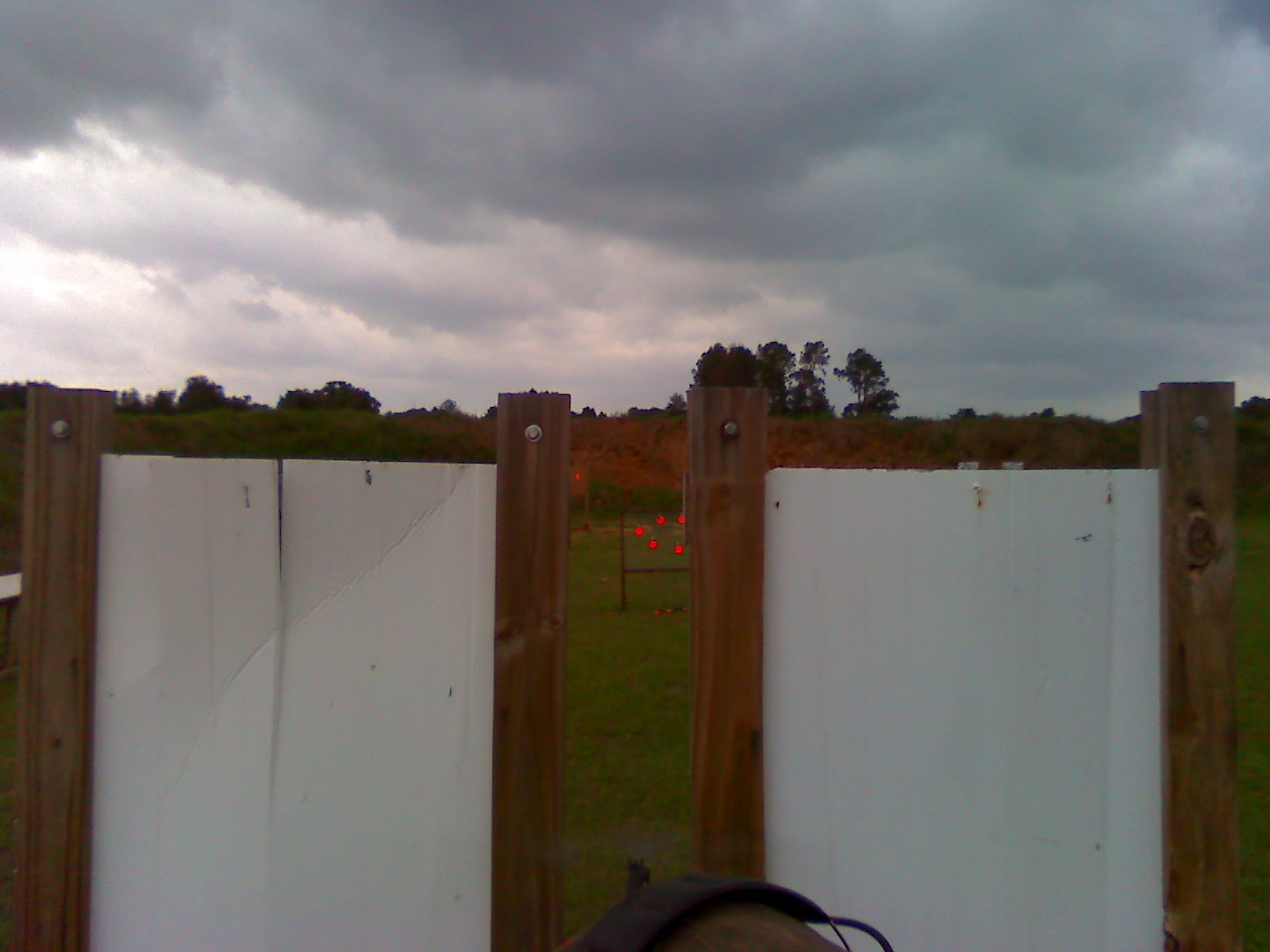 4 shots, 4 clays. Yes I do shoot rifle left-handed. I'm sinister!