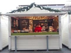 Chalet de cosmétiques sur le marché de Noël de Rennes