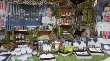 Cosmétiques bio sur le marché de Noël de Nantes