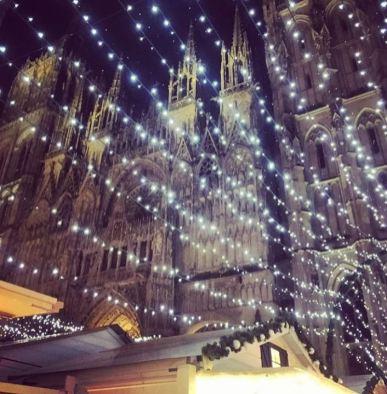 Illumination de Noël devant la Cathédrale de Rouen