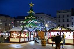 Le manège sapin illumine le Marché de Noël