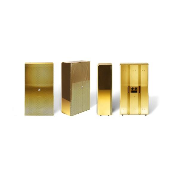 K-array Domino KF210 full-range speaker stainless steel compact speaker antique gold