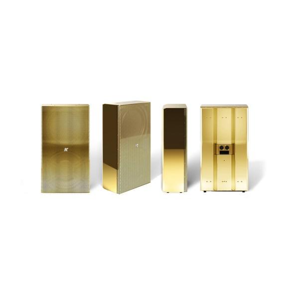 K-array Domino KF210 full-range speaker stainless steel compact speaker gold