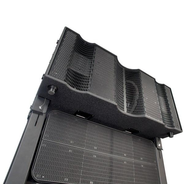 K-ARRAY Firenze KH8 loudspeaker with mounted KS8 subwoofer detail view