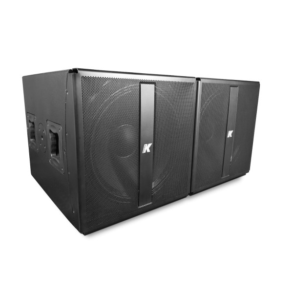 K-ARRAY Thunder KMT218 2x 18 subwoofer front side angle view