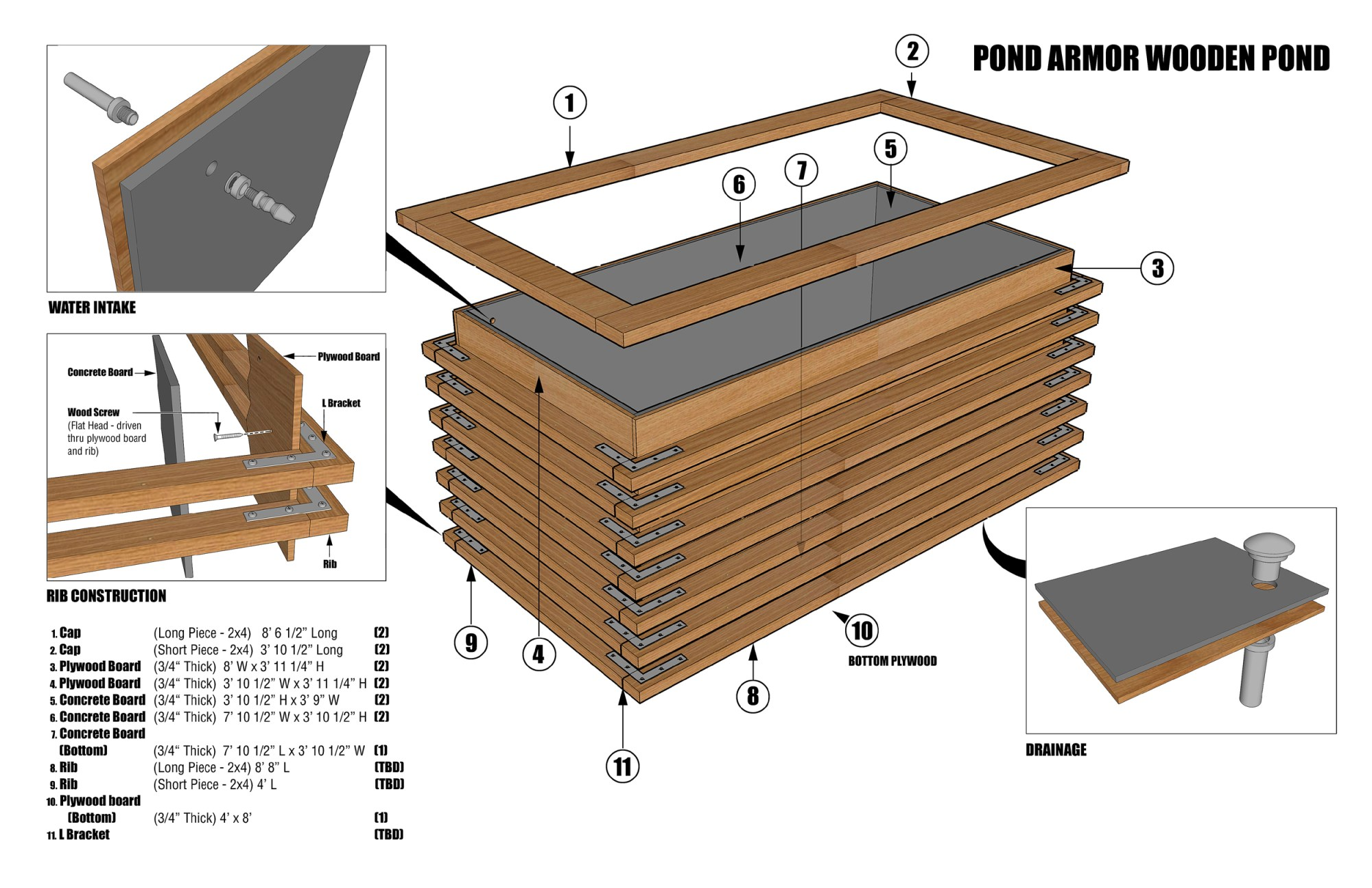 hight resolution of wooden pond diagram