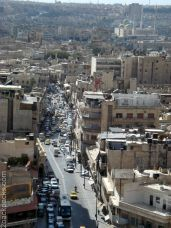 Aleppo's street view from the Citadel